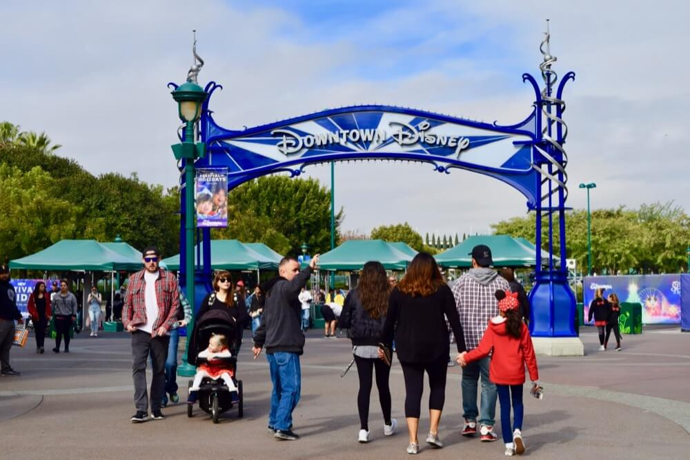 How to Avoid Losing a Child at Disneyland - Downtown Disney Sign