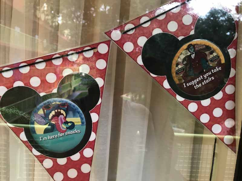 Decorating Your Disney Resort Window - Mickey Pennant