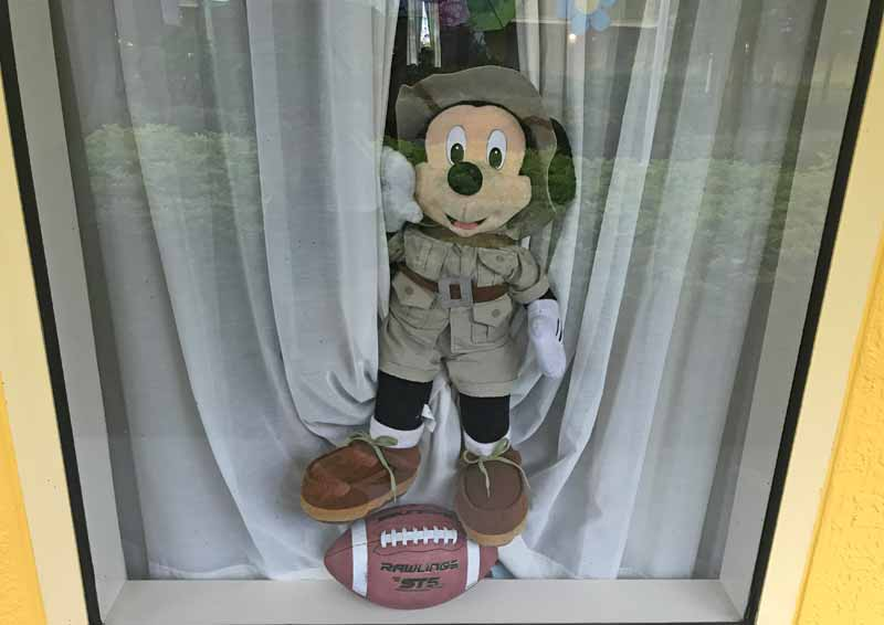 Decorating Your Disney Resort Window - Mickey with a Football