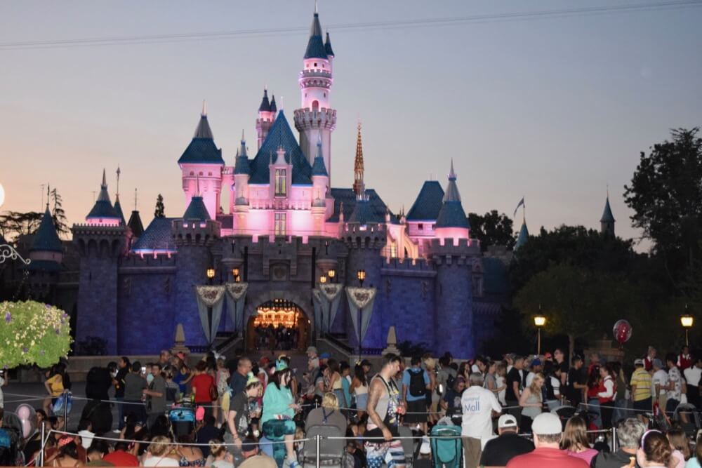 Best Places to View Disneyland Fireworks - Fireworks crowds at the castle