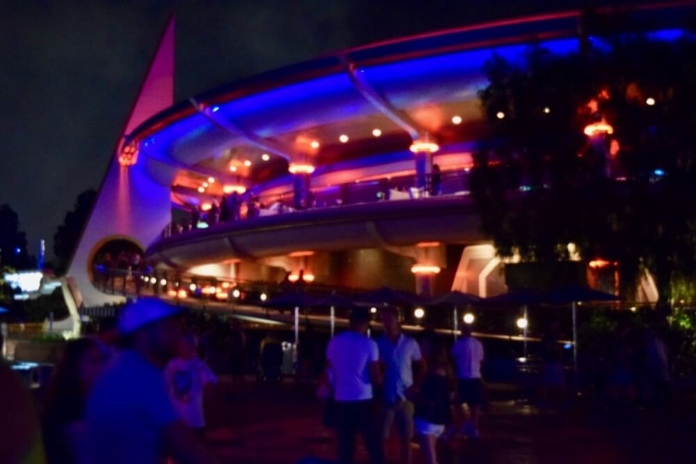 Best Places to View Disneyland Fireworks - Fireworks viewing in Tomorrowland