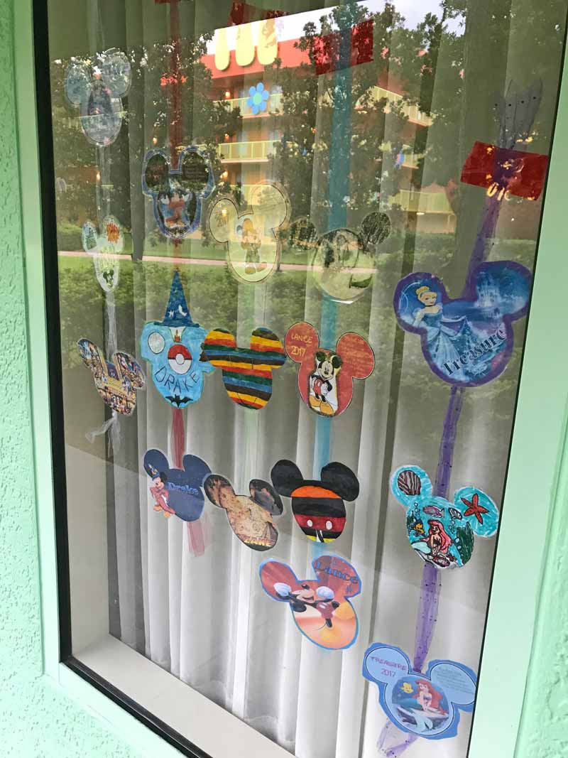 Decorating Your Disney Resort Window - Mouse Ear Decor