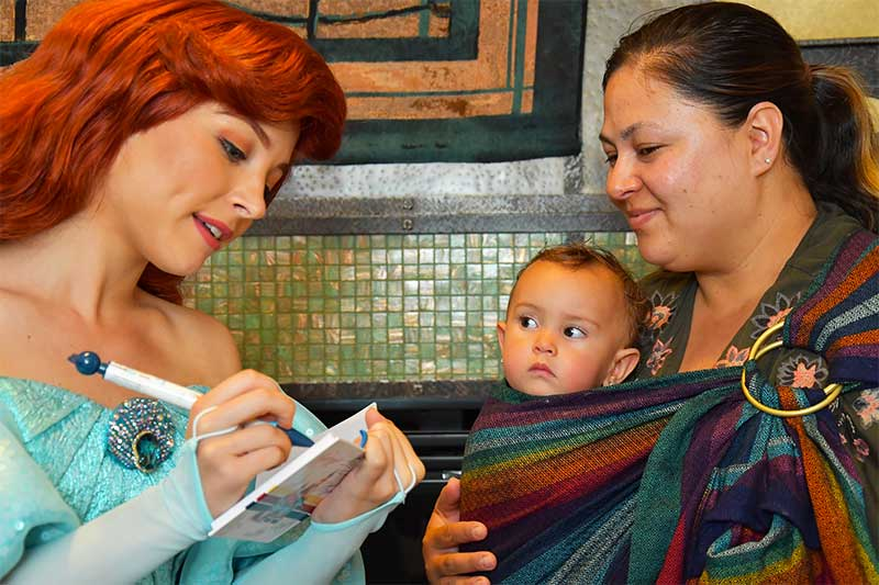 How to Use Disneyland PhotoPass to Make Magical Memories - Ariel at Character Dining