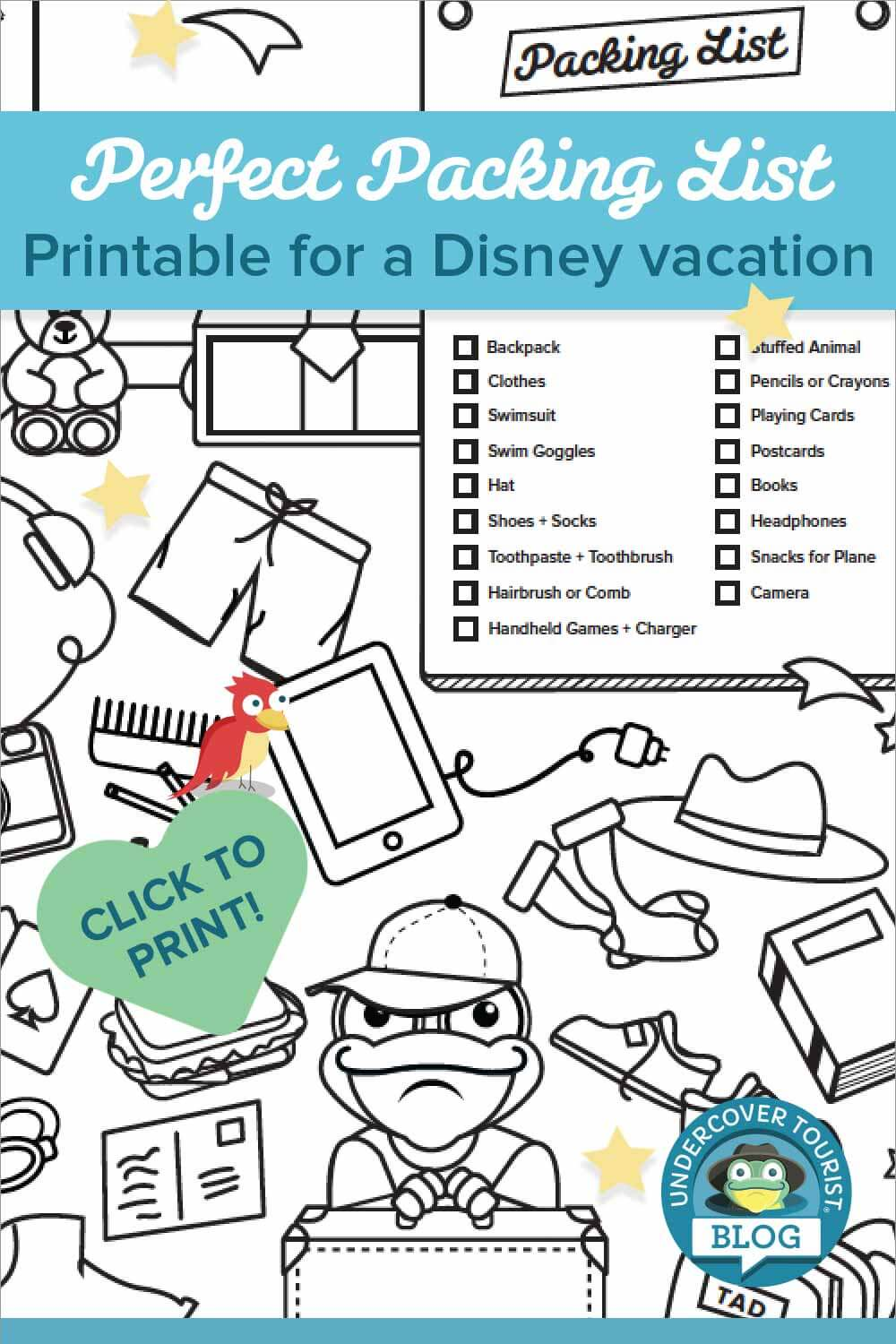 Disney Packing List Printable