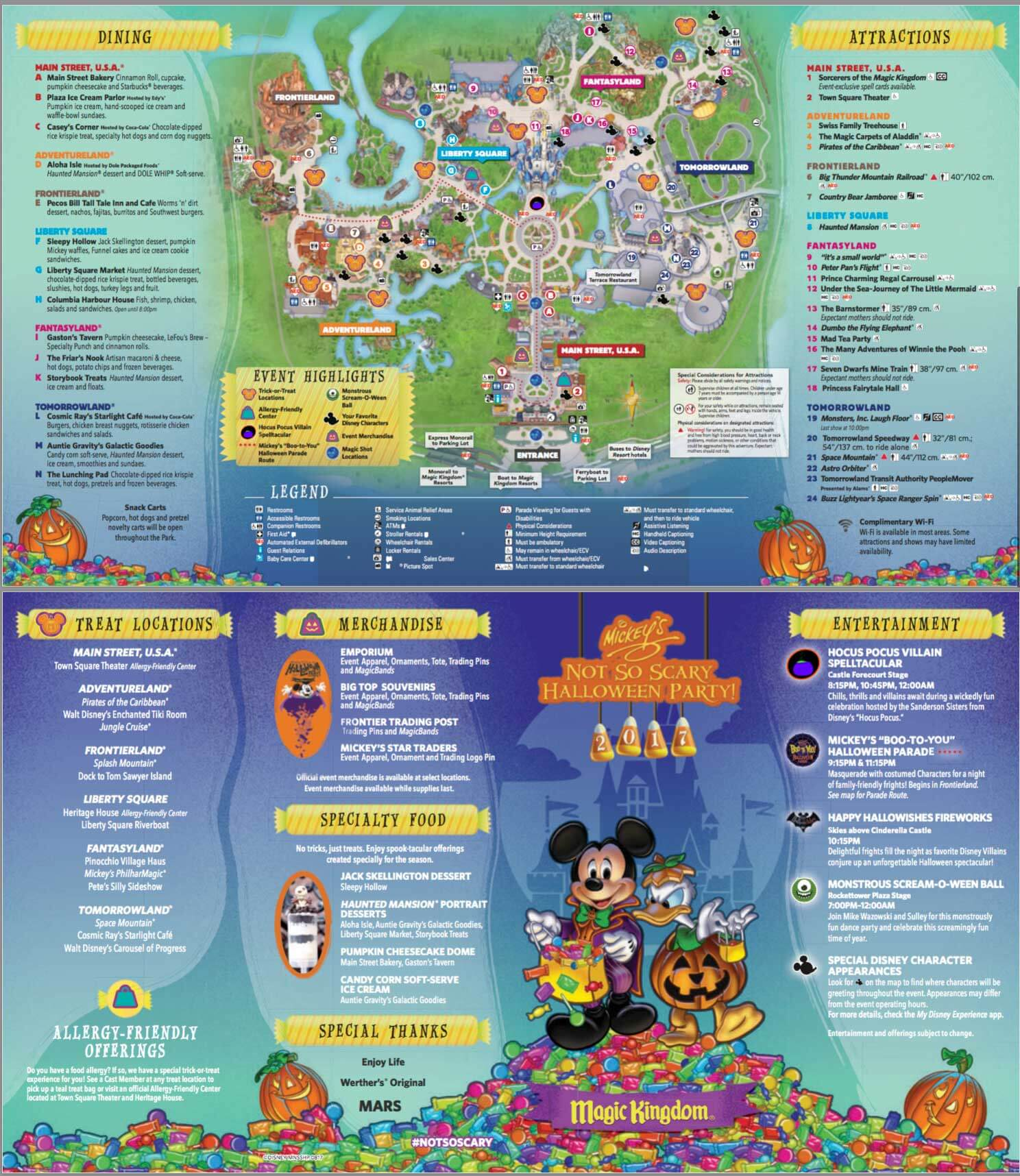 mickeys not so scary halloween party map 2017 disney halloween party map 2017 - Disneys Not So Scary Halloween Party