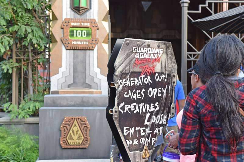 Disneyland Halloween Time 2019 - Guardians of the Galaxy Monsters After Dark Wait Times