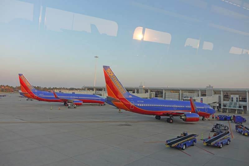 Tips for Flying with Kids and Babies - Southwest Planes at Orlando International Airport