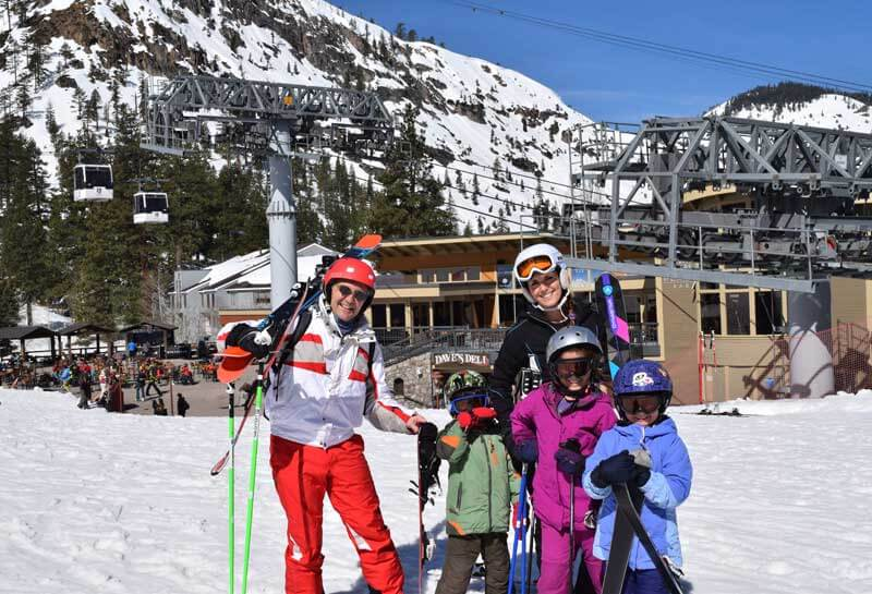 Ski School Tips - Happy Family on the Slopes