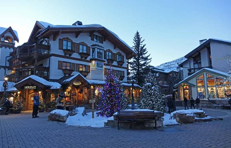 Best Time to Ski in 2018-2019 - Vail Village at Christmas