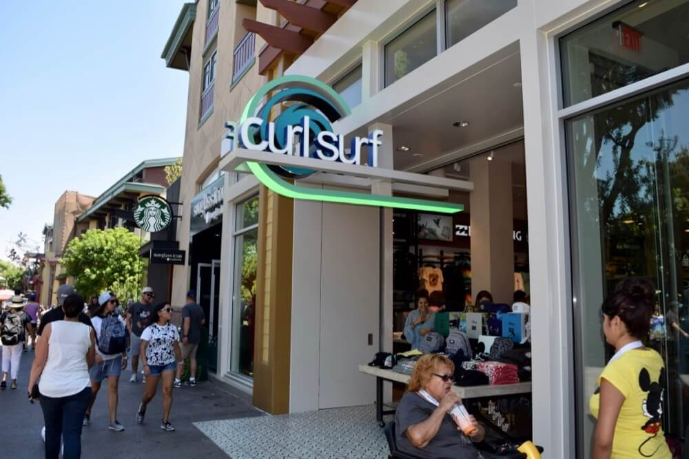 Guide To Downtown Disney at Disneyland - Curl Surf Exterior