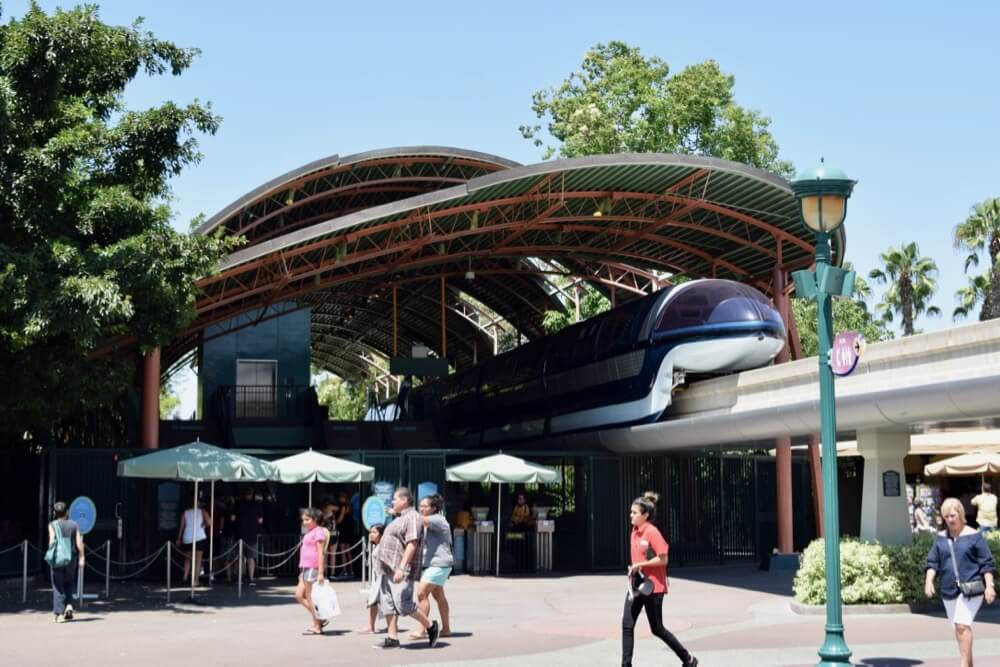 Guide To Downtown Disney at Disneyland - Disneyland Monorail