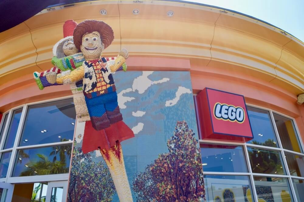 Guide To Downtown Disney at Disneyland - LEGO Store Buzz and Woody