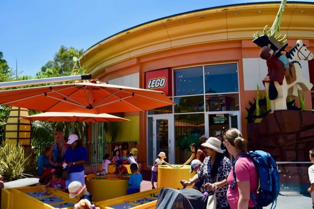Guide To Downtown Disney at Disneyland - LEGO Store Exterior