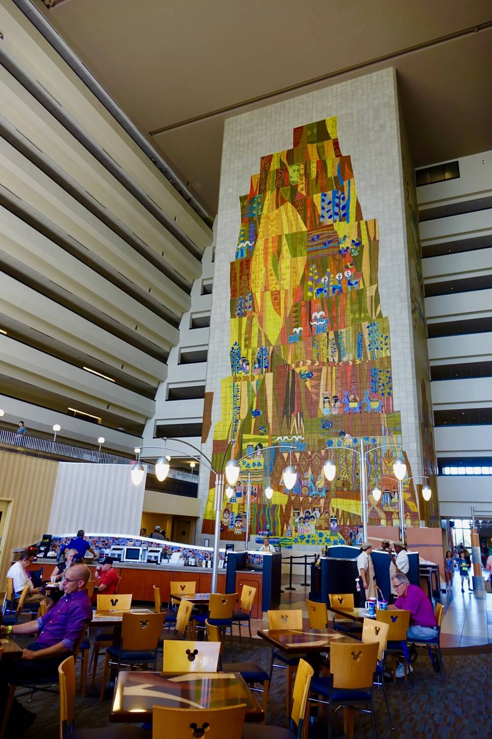 Disney World Deluxe Resort Hotel - Contemporary Resort Mural