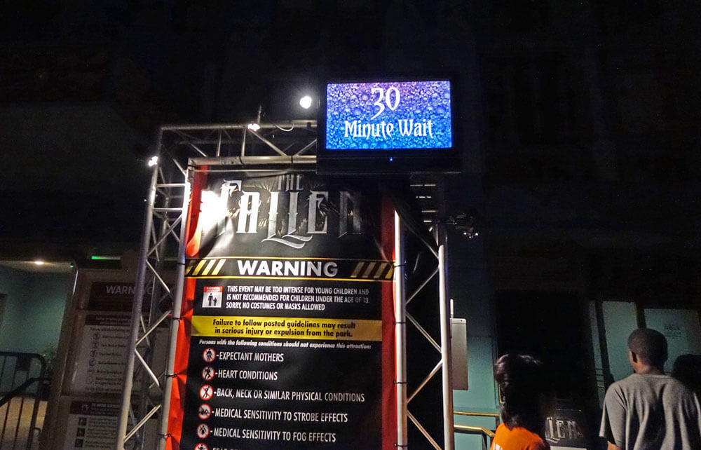 Universal Orlando Halloween Horror Nights 27 The Fallen Wait Times