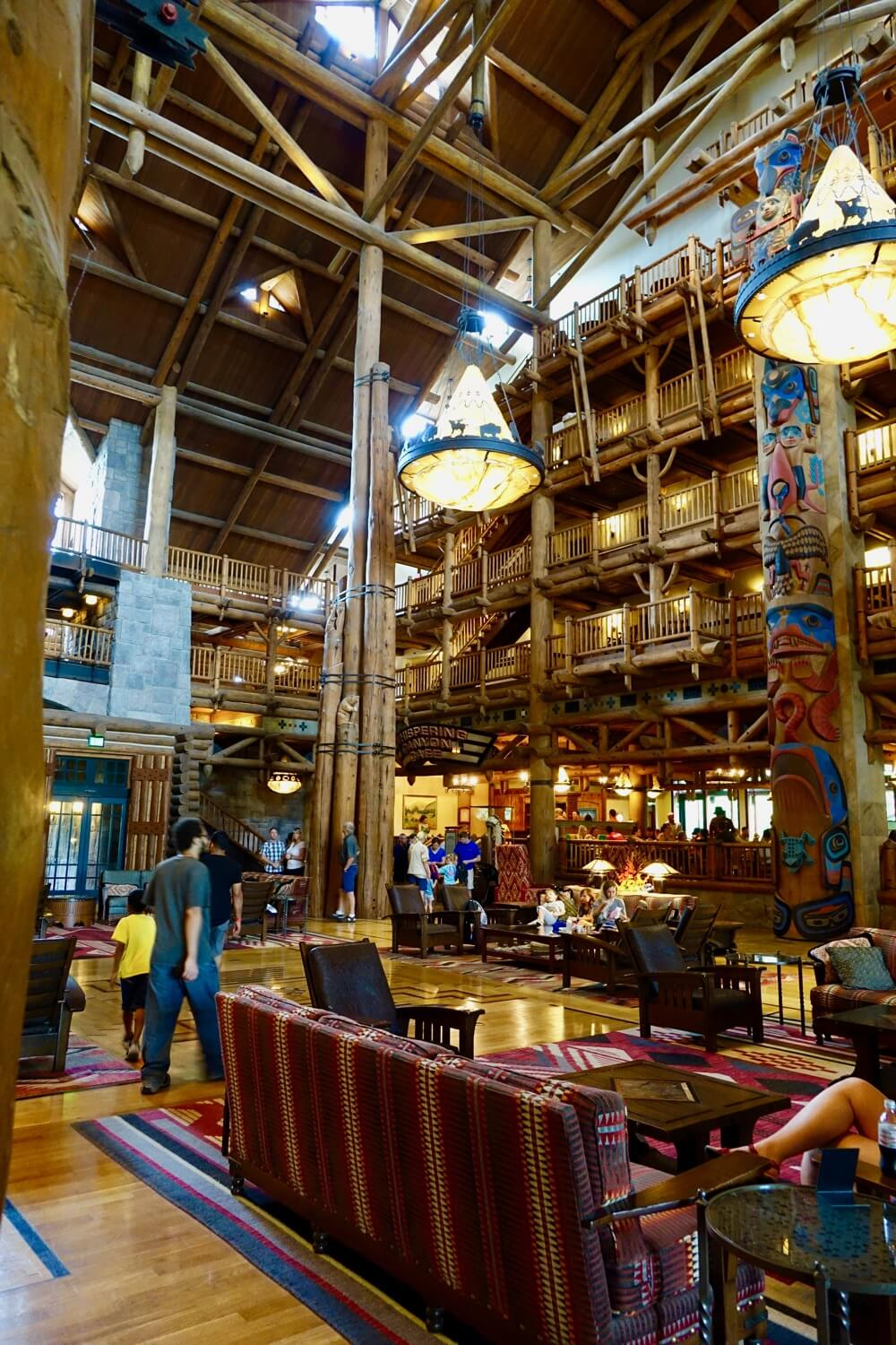 Disney World Deluxe Resort Hotel - Wilderness Lodge Lobby