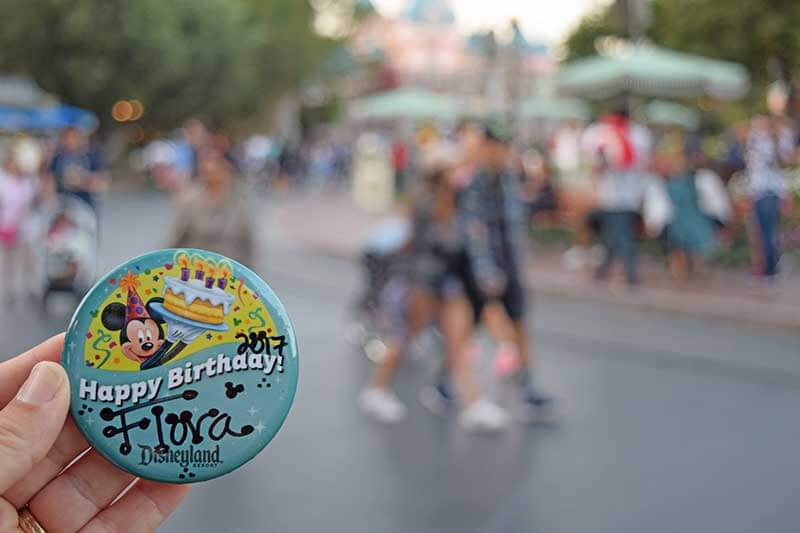 Disneyland for Adults - Flora's Birthday Button