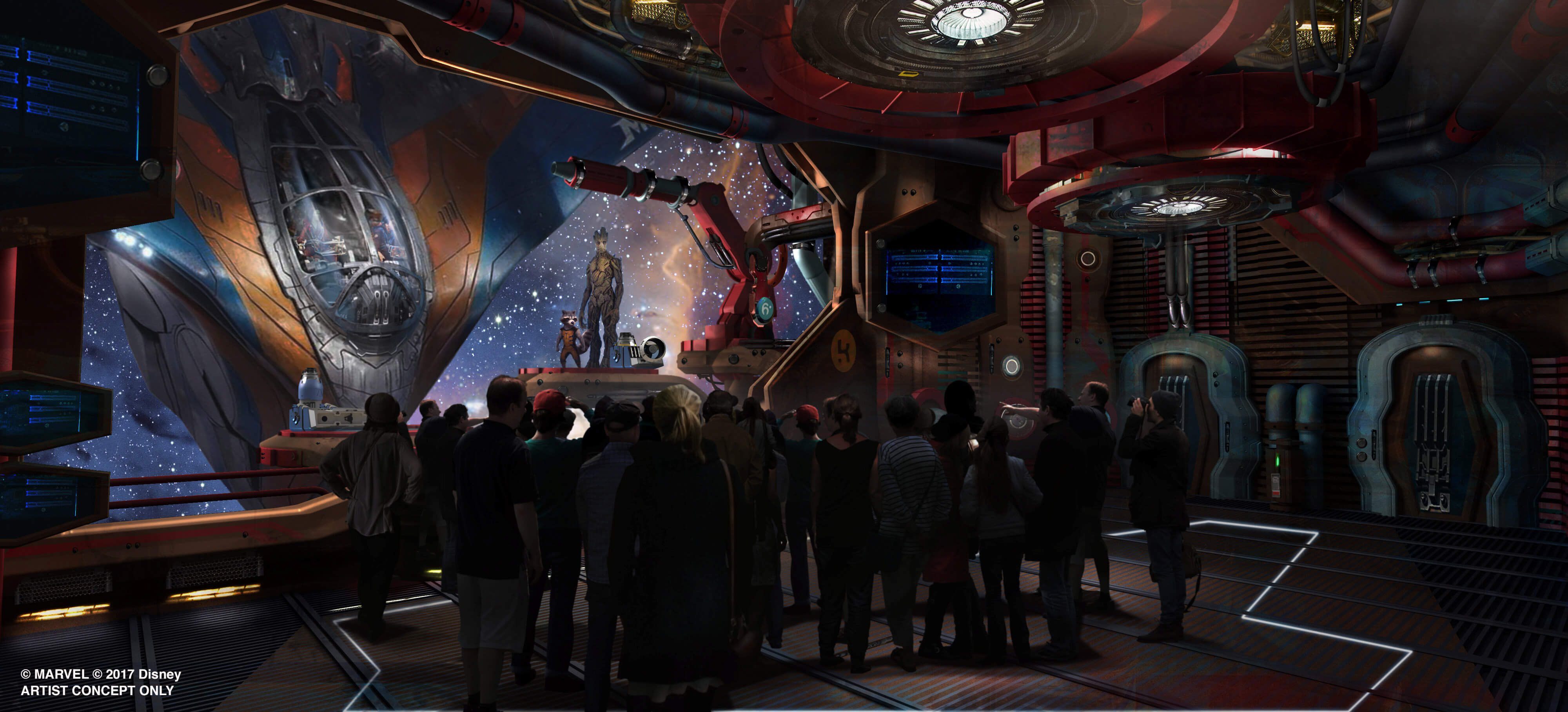 Guardians of the Galaxy Coaster Blasting Into Epcot
