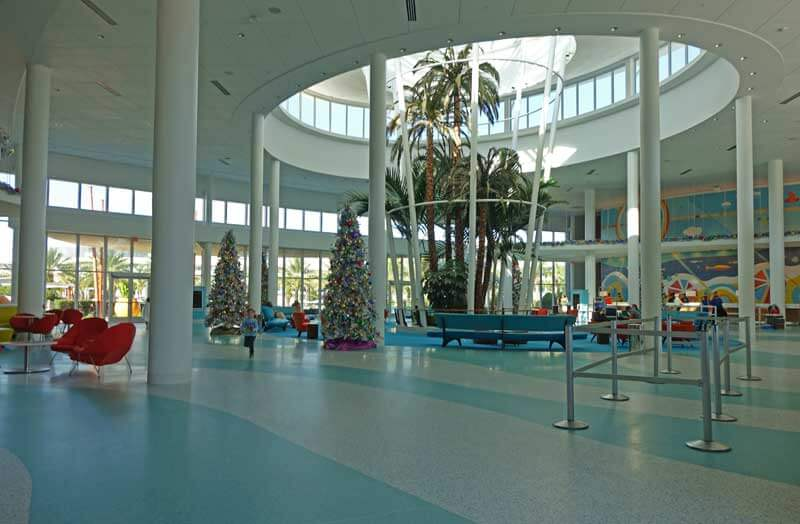Christmas at Universal Orlando - Cabana Bay Beach Resort Christmas Tree