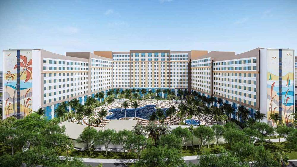 Rendering of 2 New Universal Orlando Hotels