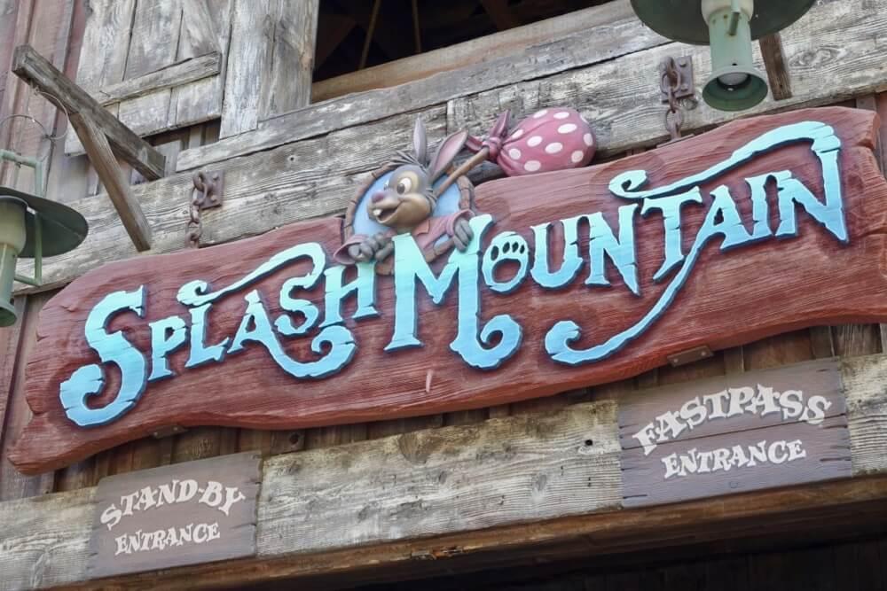 Best Queues at Disneyland - Splash Mountain Signage