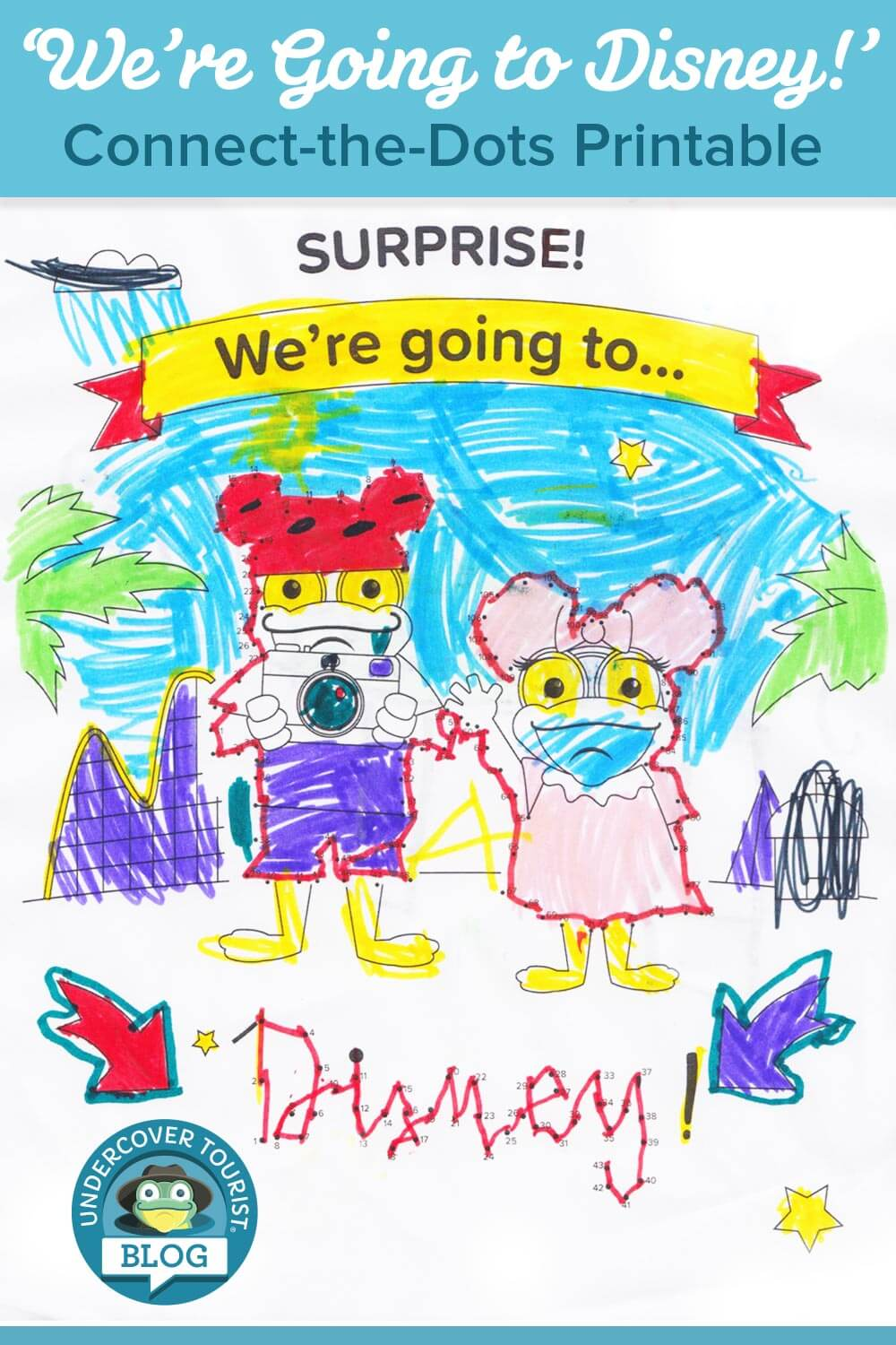 Surprise! We're Going to Disney - We're Going to Disney Connect-the-Dots Printable