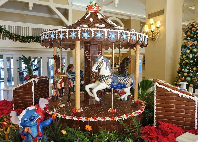 disney world resort christmas decorations disneys beach club gingerbread carousel