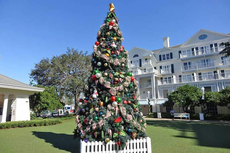Disney's BoardWalk Inn Christmas Tree - Disney World Resort Christmas Decorations
