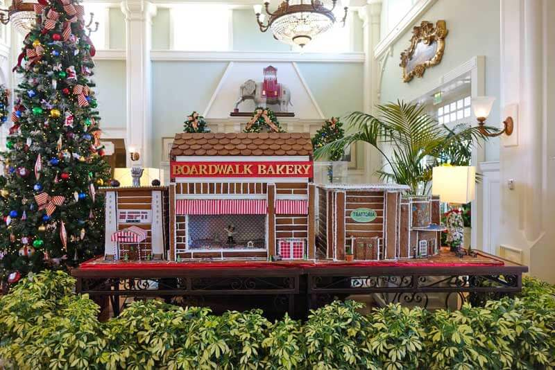 Disney's Boardwalk Inn Gingerbread Scene - Disney World Resort Christmas Decorations