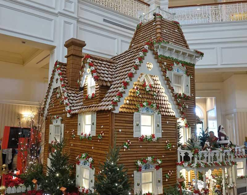 Disney World Resort Christmas Decorations - Disney's Grand Floridian Gingerbread House