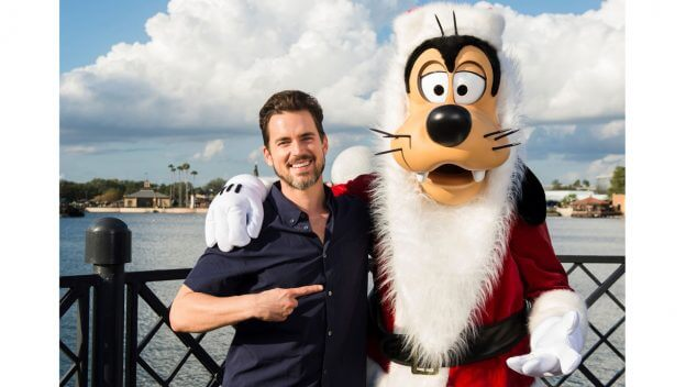 Matt Bomer and Santa Goofy