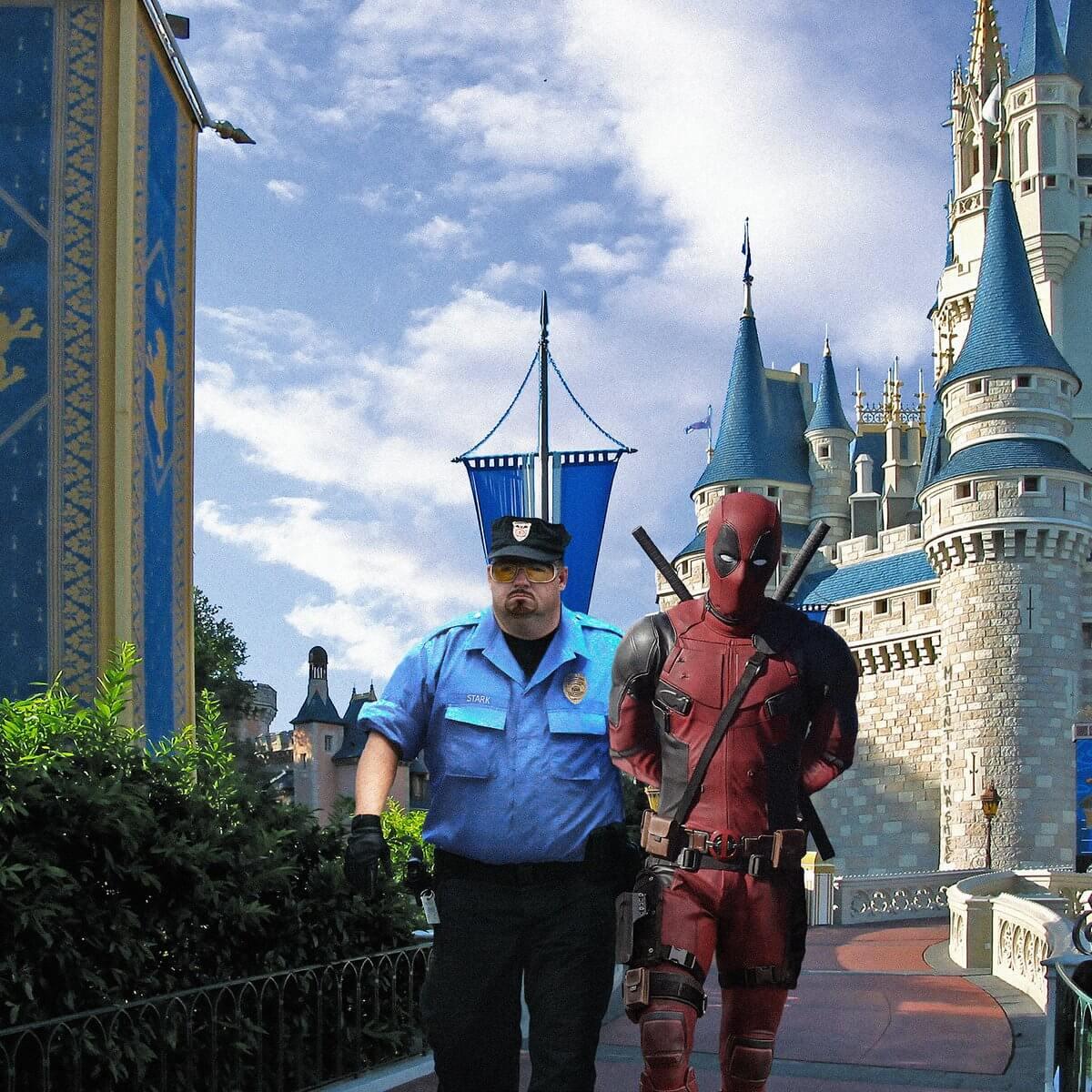 Deadpool at Magic Kingdom Tweet