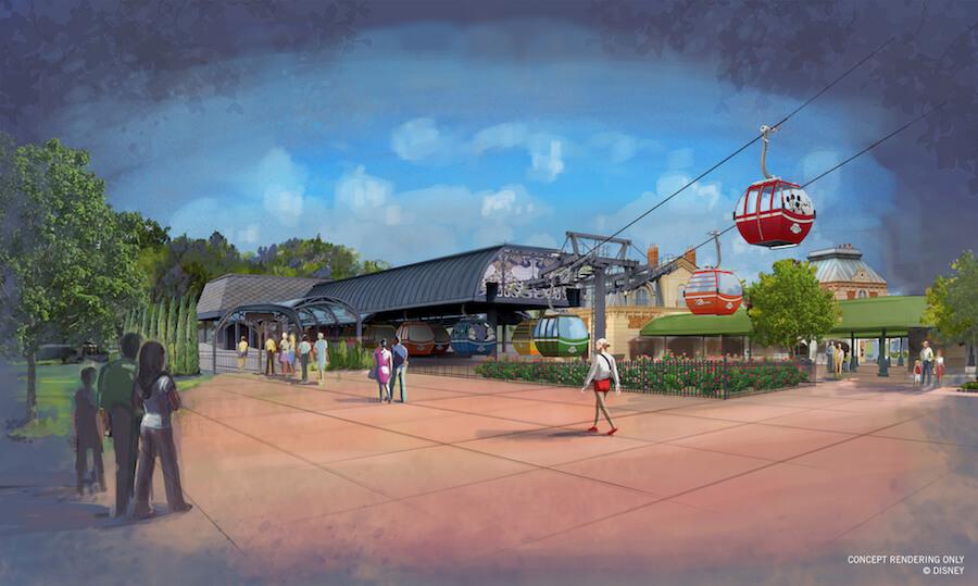 Disney Skyliner Transport Rendering