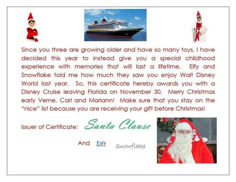 Disney Cruise - Elf on the Shelf at Disney World