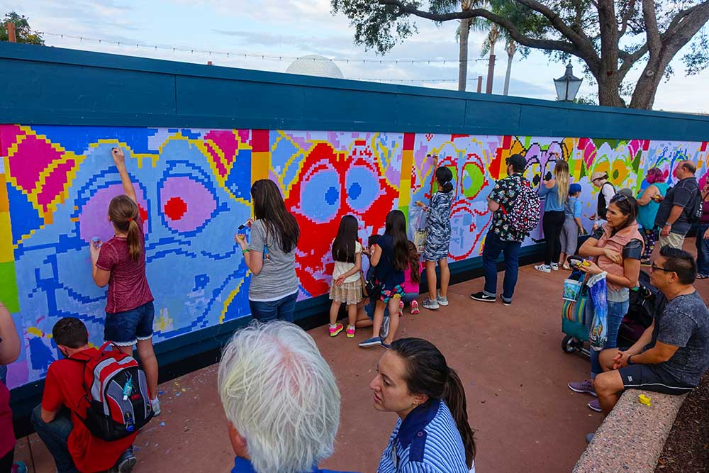 Guide to epcot international festival of the arts for Disney world mural