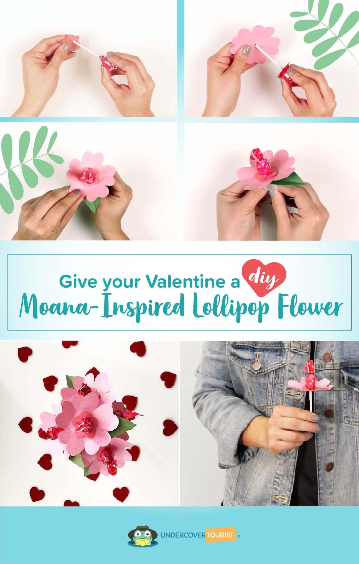Give Your Valentine A Diy Moana Lollipop Flower