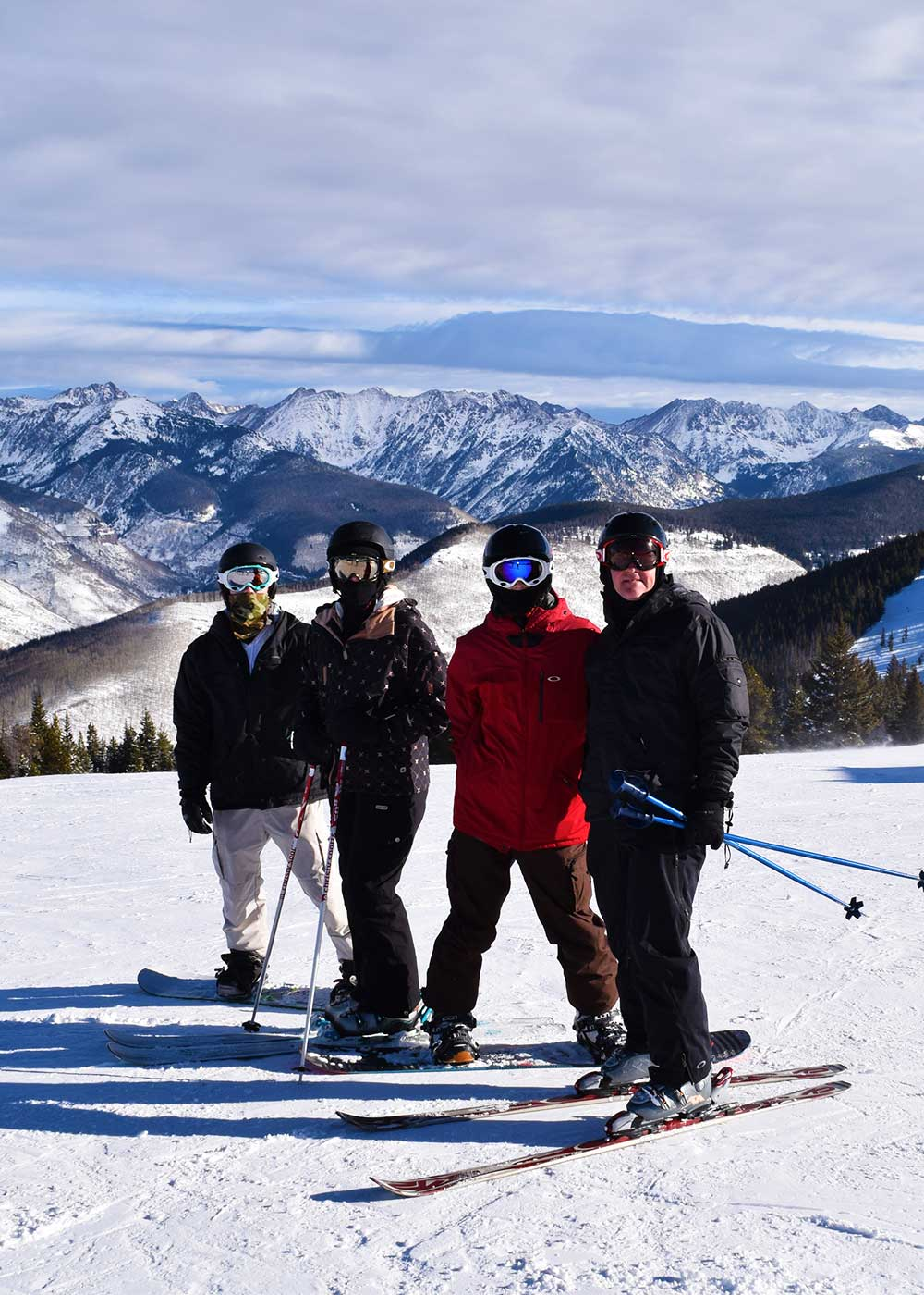 Skiing During Peak Times - On the Slopes