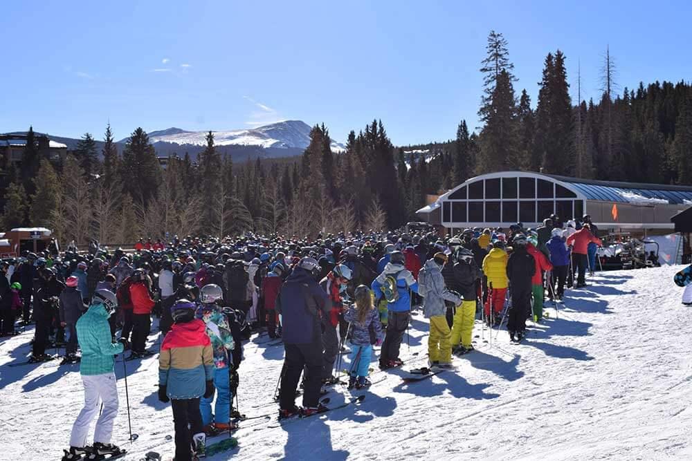 Skiing During Peak Times - Long Wait Times
