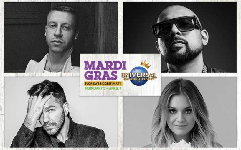 Macklemore, Kelsea Ballerini to Perform at Universal Orlando Mardi Gras