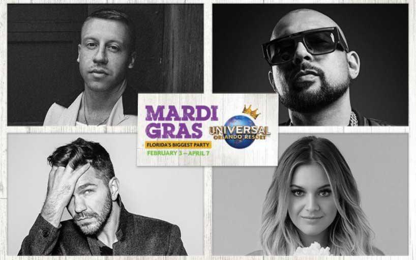 Macklemore, Kelsea Ballerini to Perform at Universal Orlando Mardi Gras