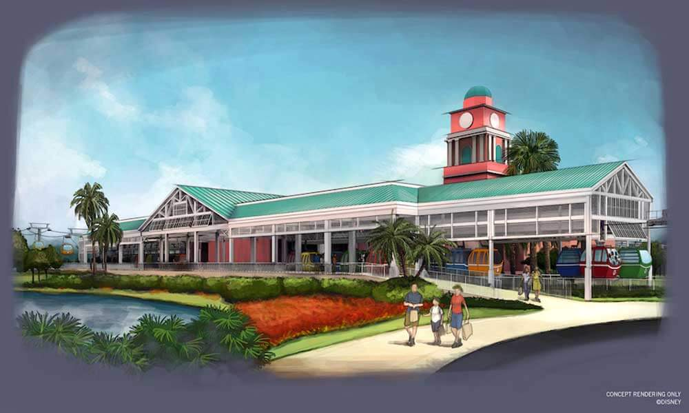 Disney Skyliner Transportation System - Caribbean Beach Station