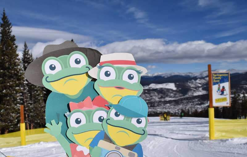 Best Time to Ski in Colorado - Frog Family on the Slopes