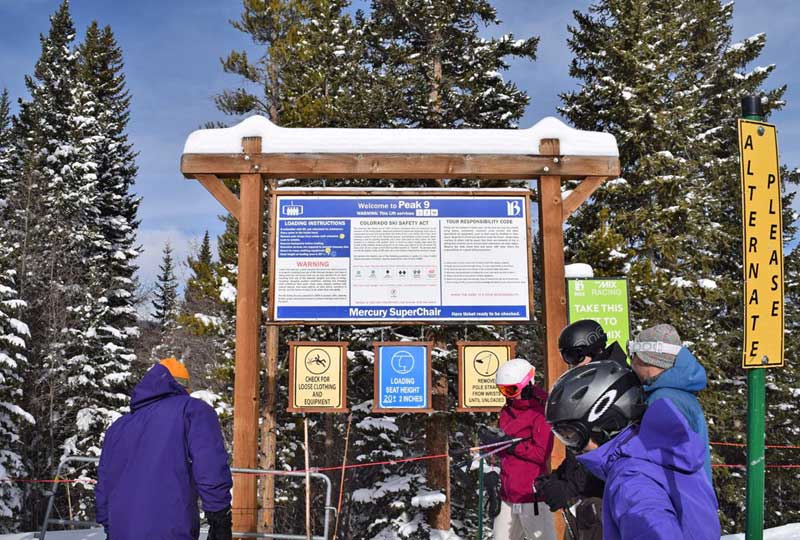 Breckenridge Colorado Ski Area - Peak 9