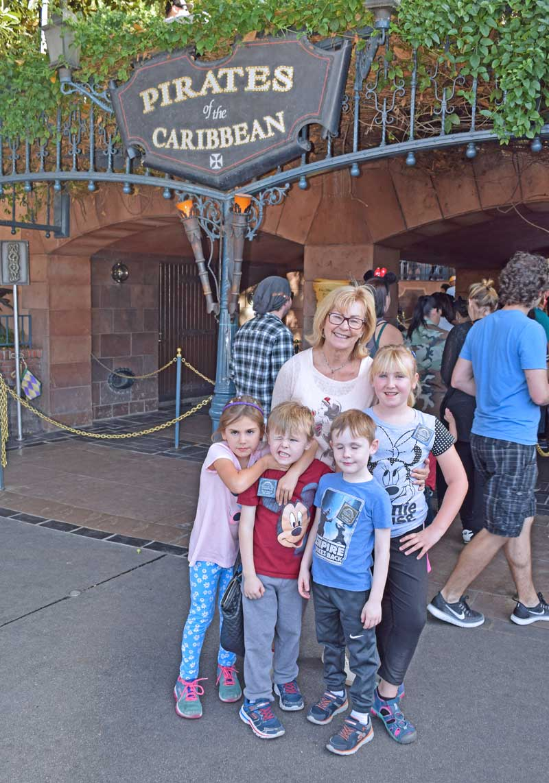Multi-Generational Trip to Disneyland - Pirates of the Caribbean