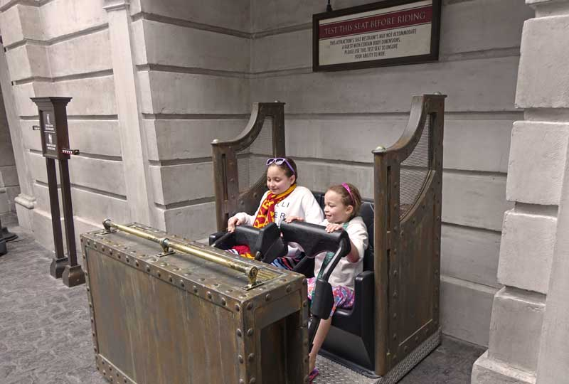 Height Requirements at Universal Orlando Resort - Harry Potter and the Escape from Gringotts Test Seat