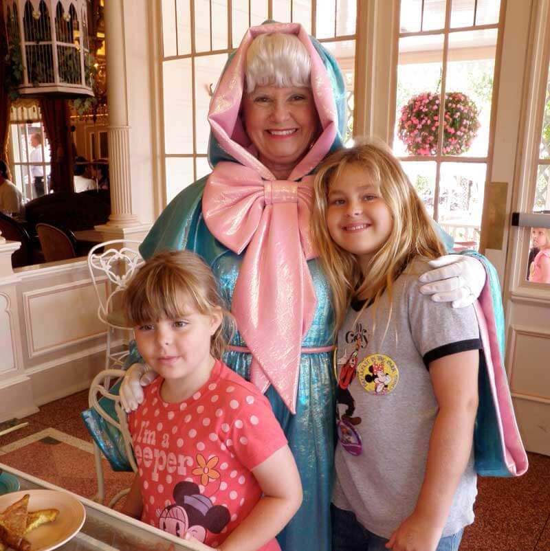 Disneyland Character Dining - Fairy Godmother at Plaza Inn