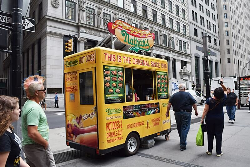 Top Things to Do in NYC with Kids - Nathan's Hotdogs