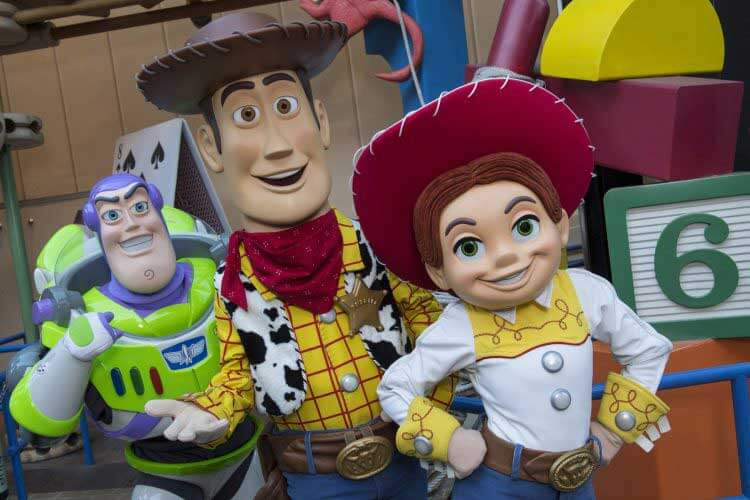 Toy Story Land Disney World - Toy Story Characters Woody, Jesse and Buzz Lightyear