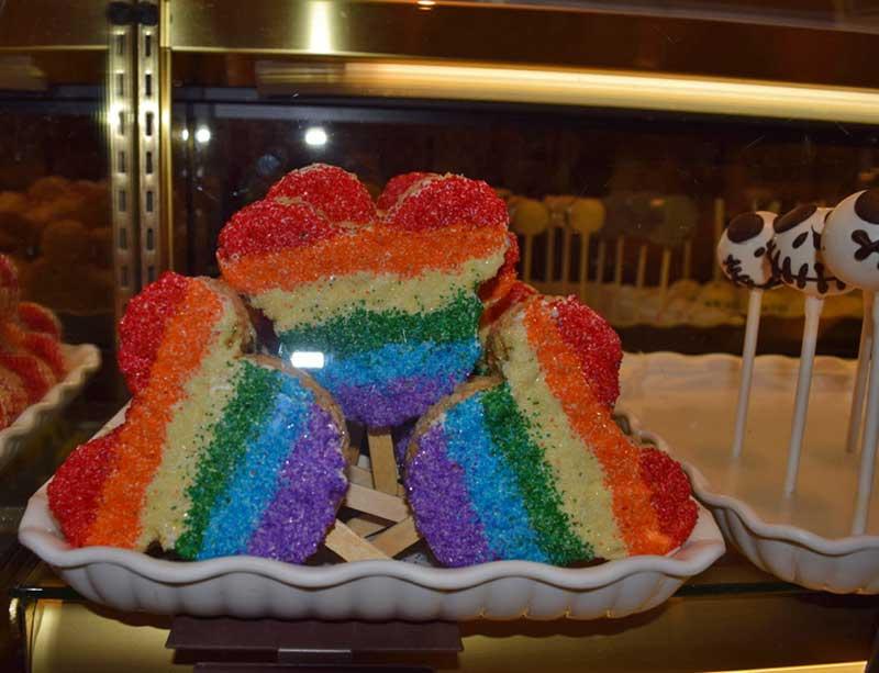 Disneyland Gay Days - Rainbow Rice Krispie Treats