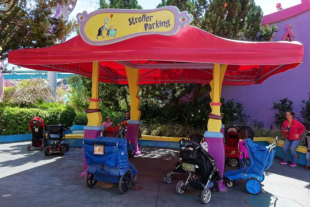 Stroller at Universal Orlando - Stroller Parking